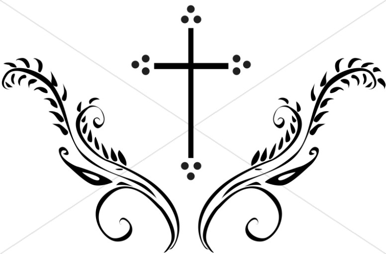 Graceful Cross Clipart