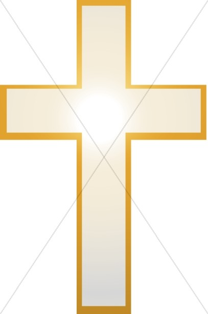Cross Clipart with Radiant Light
