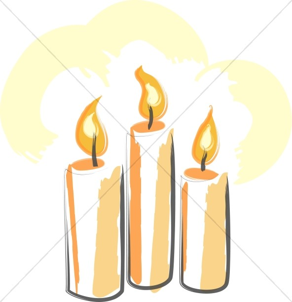 Preferred Trinity of Orange Candles | Trinity Clipart YL38