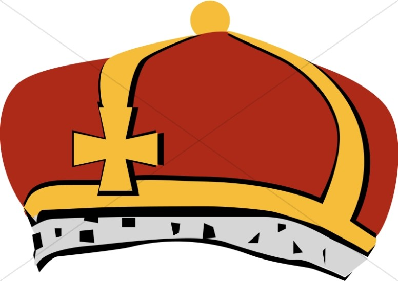 Red and Grey Bishop's Crown