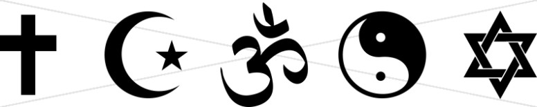 Five Symbols of Earth's Major Religions