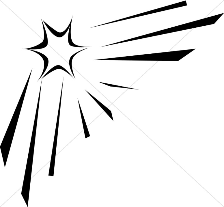 outline of shining star christian star clipart rh sharefaith com Shooting Star Clip Art Banner Shooting Star Vector Clip Art