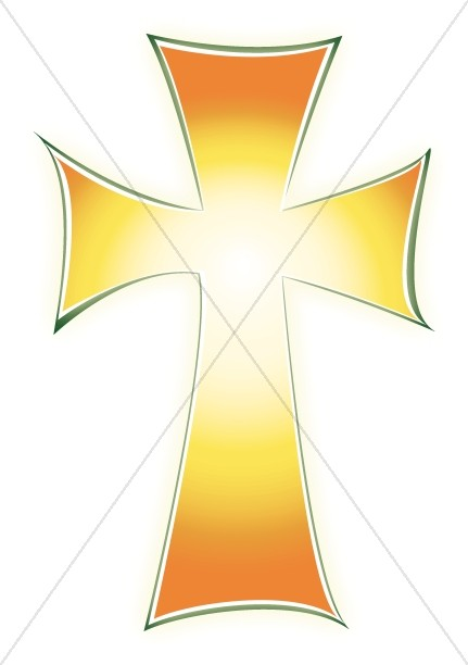 Glowing Cross Clipart