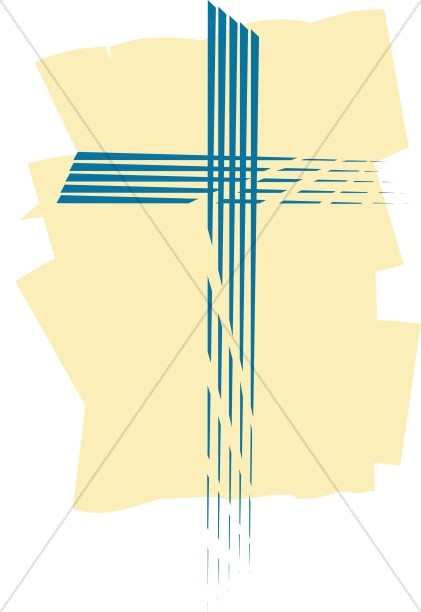 Cross in Blue Slashes