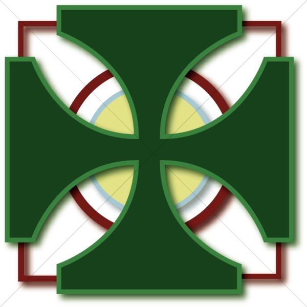 Green Cross Pattee | Cross Clipart