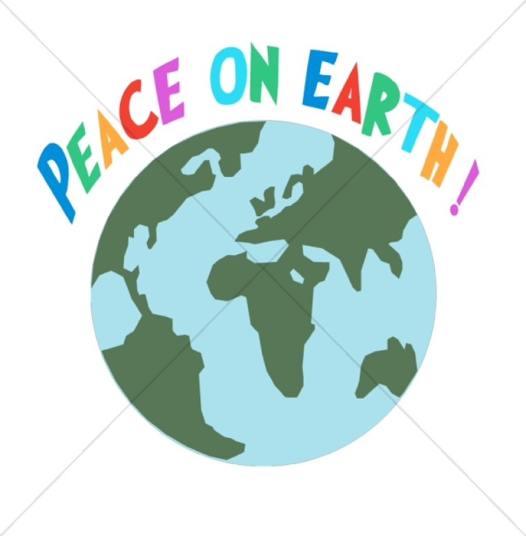 Colorful Peace on Earth with World