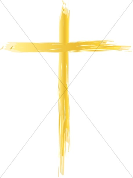 Thin Gold Cross Design