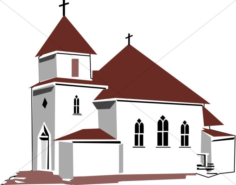 red and tan house of worship church clipart rh sharefaith com catholic church clip art free catholic religion clipart
