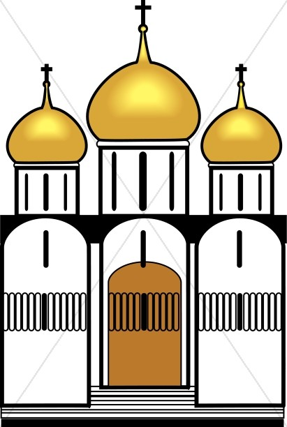 Gold Onion Dome Church