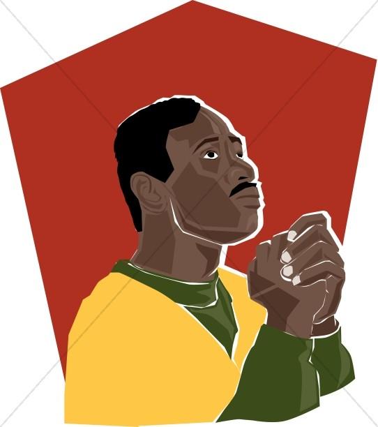 African American Praying Man