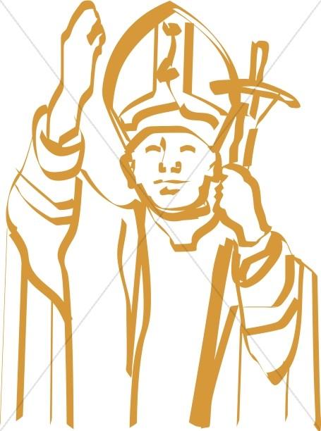 Calligraphic Line Pope