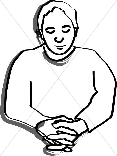 A Simple Praying Man