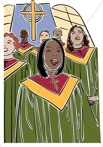 church singers clipart - photo #9