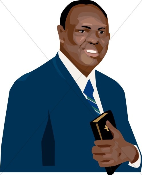 Christian Man with Bible