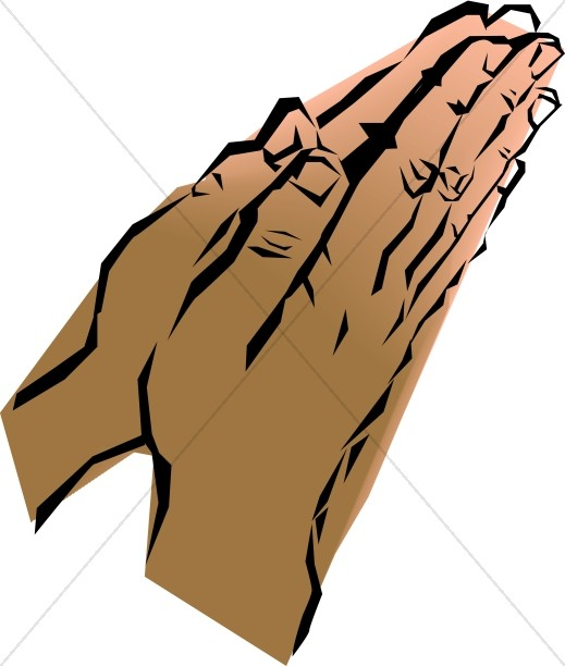 Leaning Prayer Hands