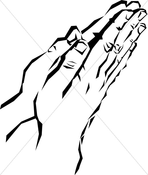 Black And White Prayer Hands