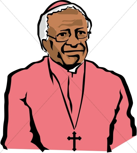 archbishop desmond tutu famous people clipart rh sharefaith com Nelson Mandela Drawing Nelson Mandela Portrait