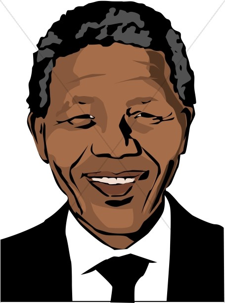 smiling nelson mandela famous people clipart rh sharefaith com Nelson Mandela Cartoon Nelson Mandela Portrait