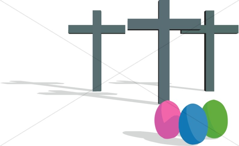 Easter Eggs and Crosses