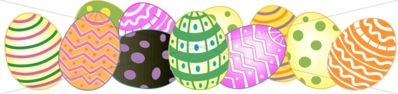 Bunch of Decorated Eggs