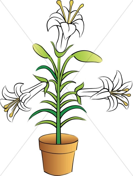 potted easter lilies church flower clipart rh sharefaith com easter lily border clipart free easter lily border clipart free