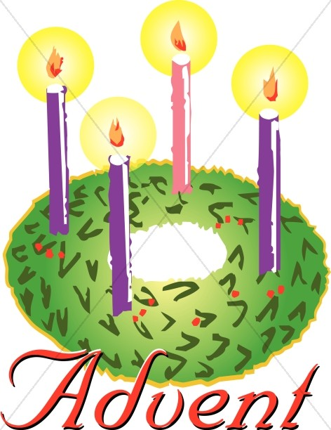 Advent wreath. Clipart