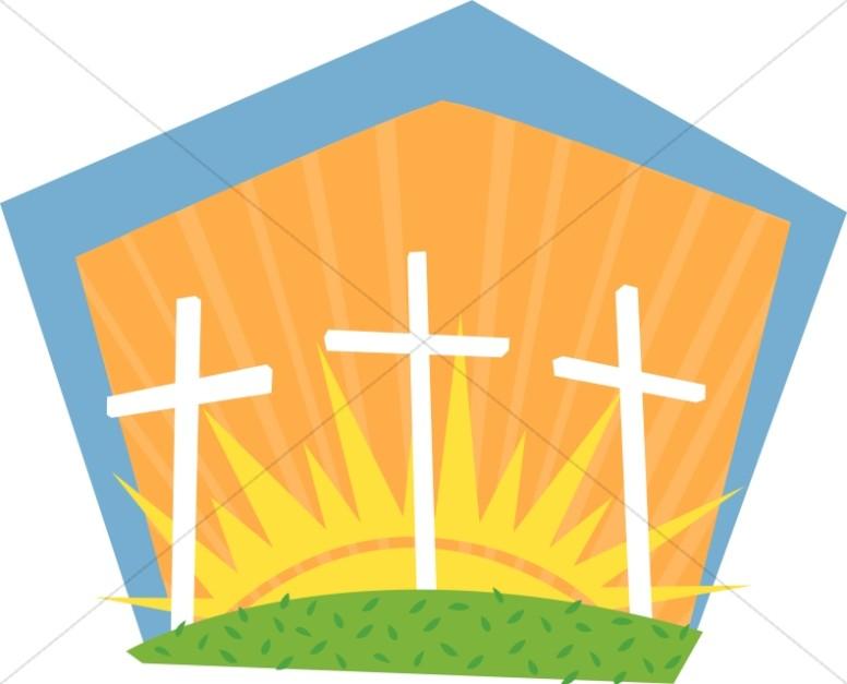 Contemporary Calvary Cross Dawn