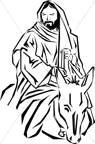 jesus of nazareth palm sunday clipart rh sharefaith com Good Friday Clip Art Black and White palm sunday clip art black and white