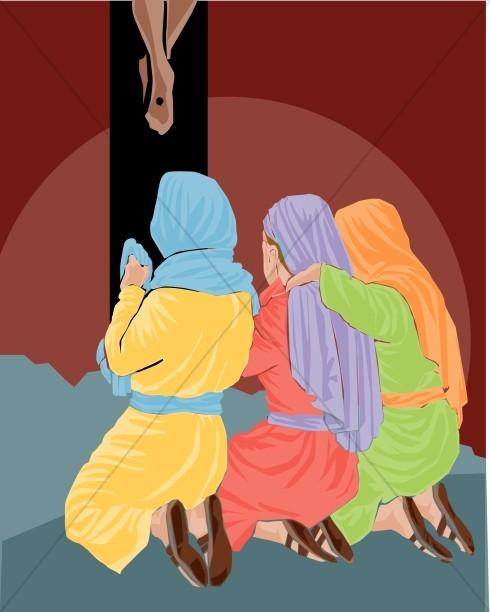 Three Women Weeping