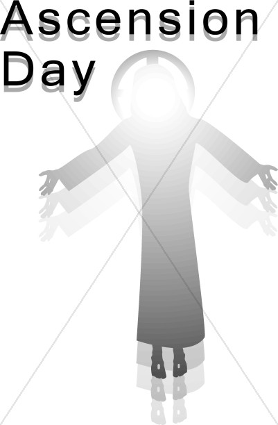 Ascension Day Wording with Ascending Jesus