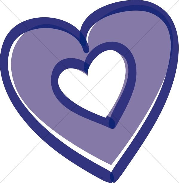 Purple Heart with Heart Inside