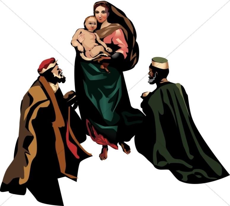Mary, Jesus, And The Magi