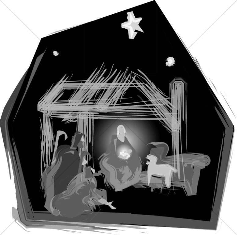Nativity in Black and White