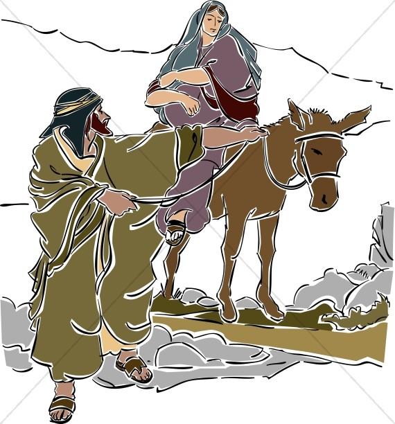Mary Rides A Donkey