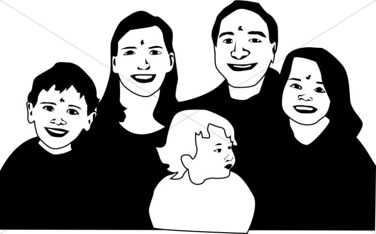 Christian Family Clipart