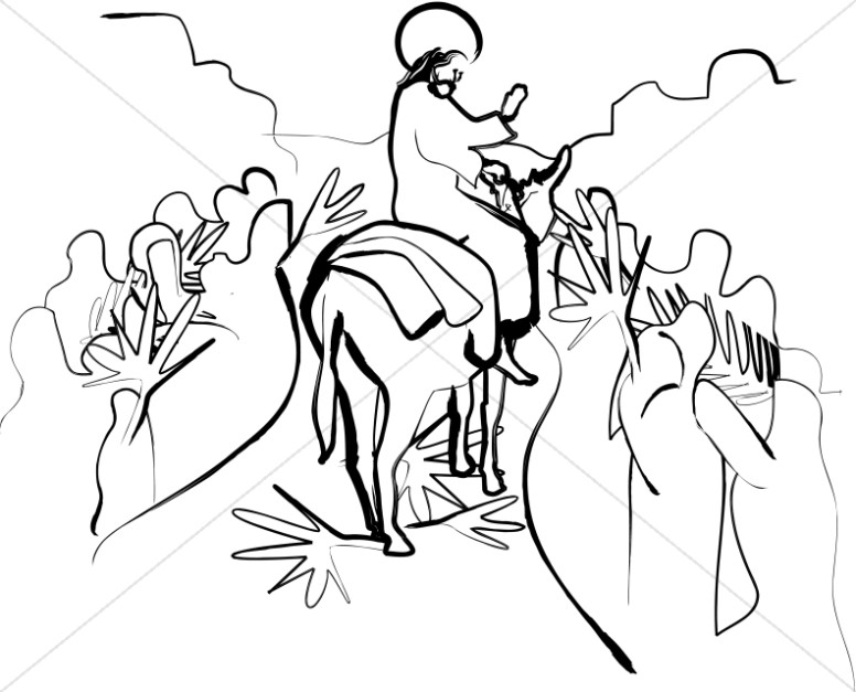 Jesus Riding on Palm Sunday