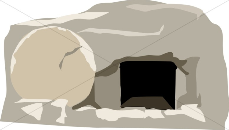 Open Stone Tomb Easter Clipart