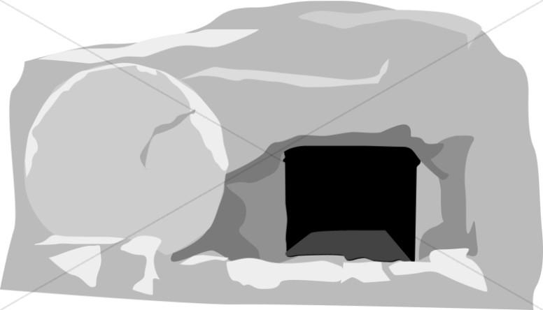 Open Gray Stone Tomb