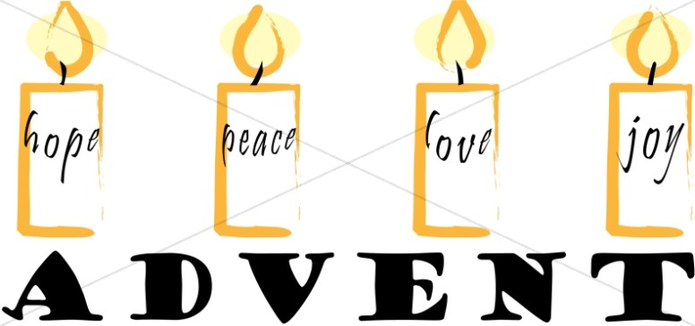 Christmas Word Art for Advent