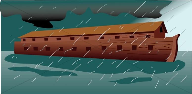 Noahs Ark During the Flood