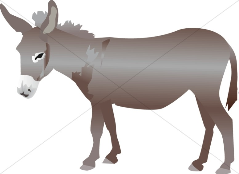nativity donkey nativity clipart