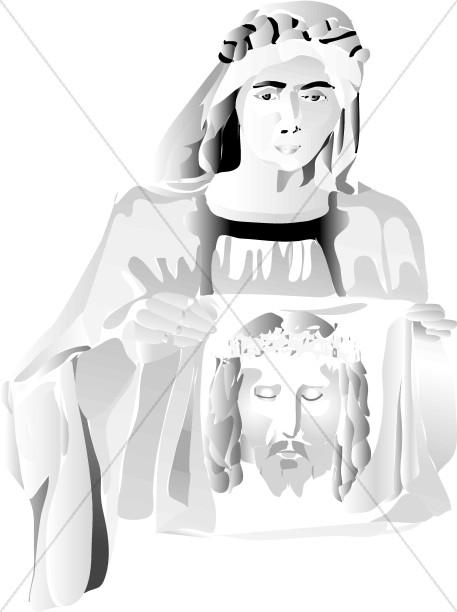 Black and White Veronica's Veil