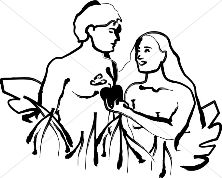 Christian Clipart of Adam and Eve | Adam and Eve Clipart