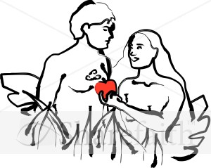 Religious Clipart of Adam and Eve | Adam and Eve Clipart