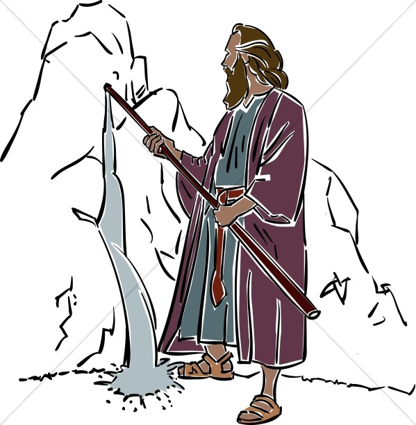 Moses Parts the Red Sea | Moses Clipart