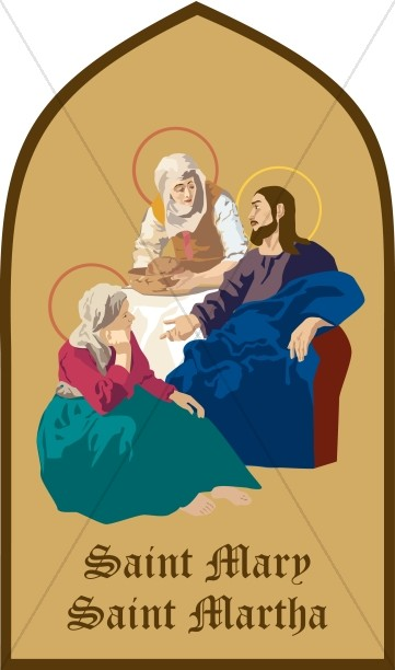 Jesus Communes with Mary and Martha