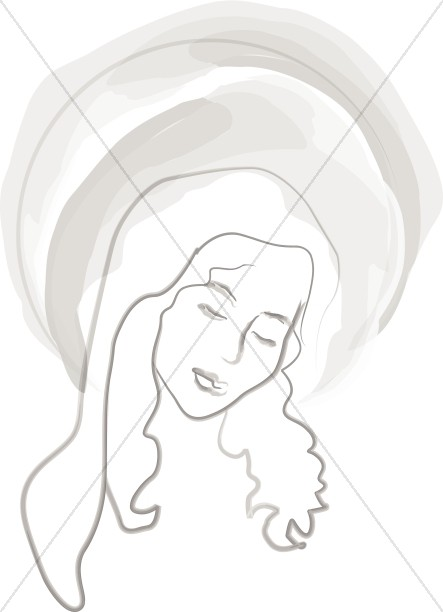 Halo Glows Around Mary