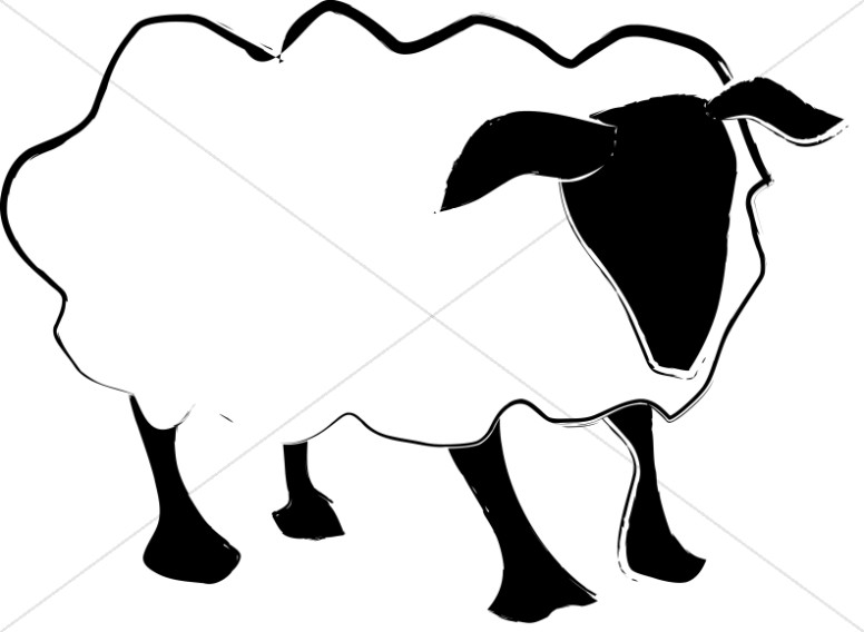Simple Sheep Abstract
