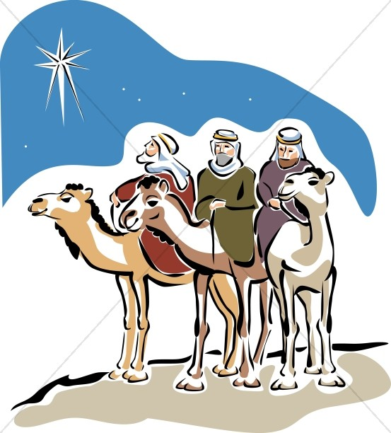 Three Camels with Magi