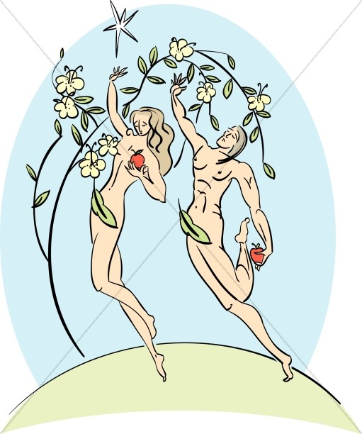 Stylized Adam and Eve
